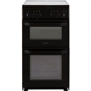 HOTPOINT HD5V92KCB  BLACK ELECTRIC COOKER